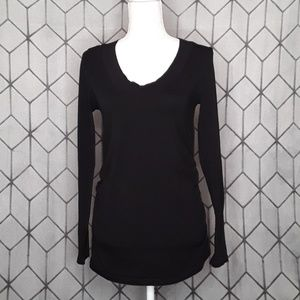 Ambiance Maternity Black Scoop Neck Top
